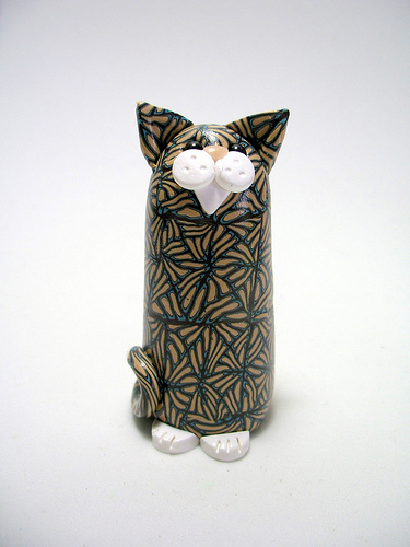 polymer geometric cat tiny